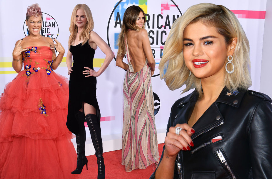 Pink, Nicole Kidman, Heidi Klum ir Selena Gomez