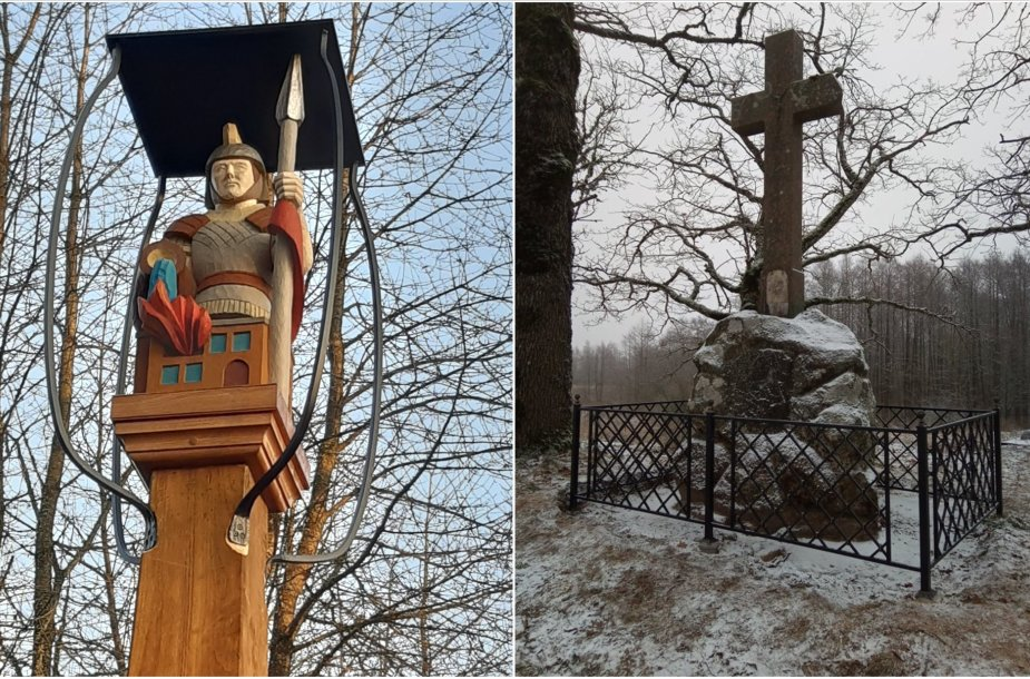 Šv. Florijono koplytstulpis ir Siraičių kryžius