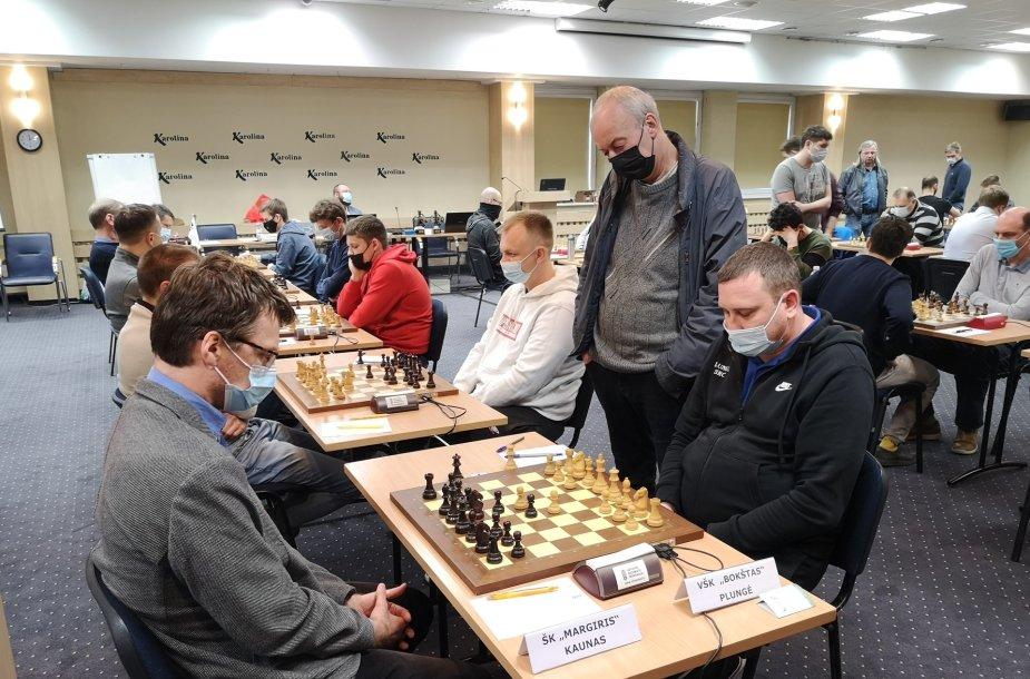 Lietuvos šachmatų lygos varžybos.