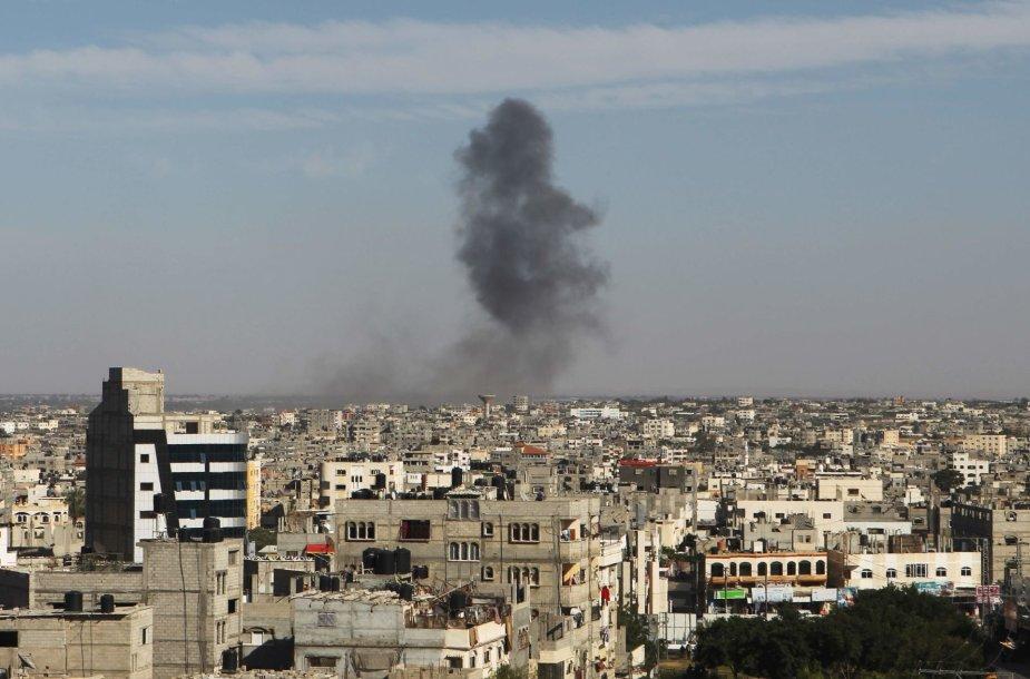 Oro smūgis Gazos Ruože
