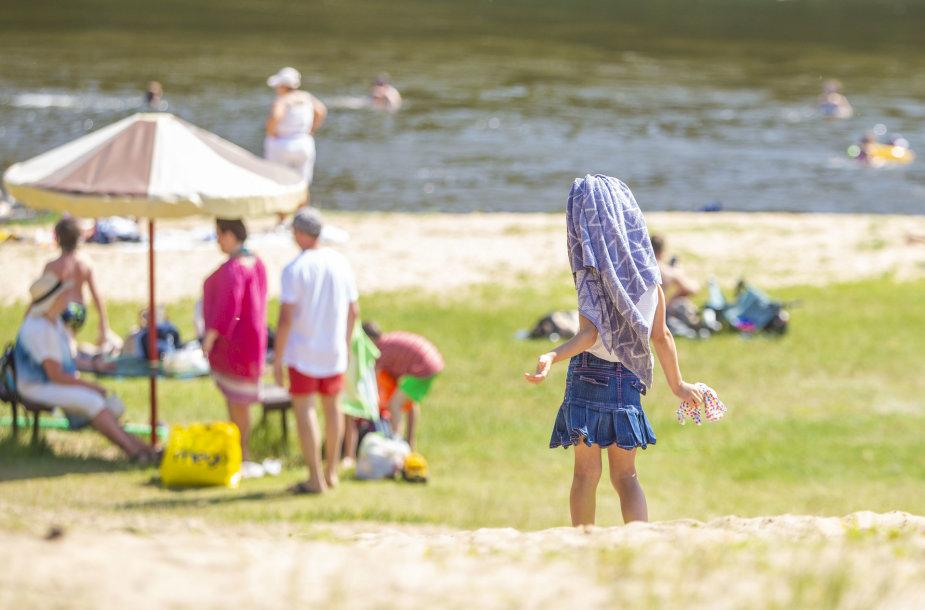 Sekmadienis Valakampių I paplūdimyje