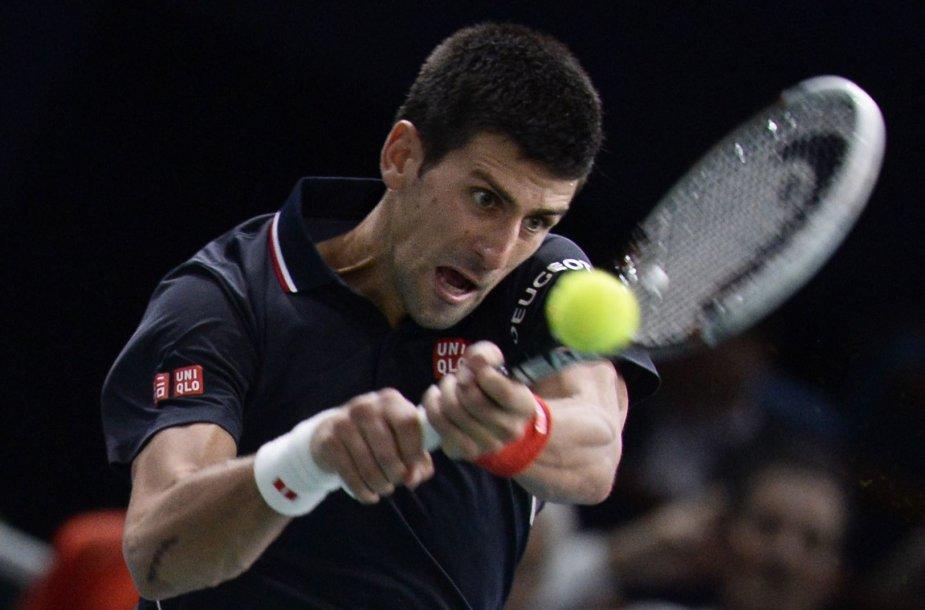 Novakas Džokovičius Paryžiu gina čempiono titulą
