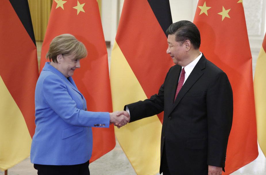 Angela Merkel ir Xi Jinpingas 2018 metais
