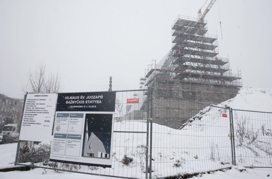 Vilniaus Šv. Juozapo bažnyčios stogo dengimo darbai
