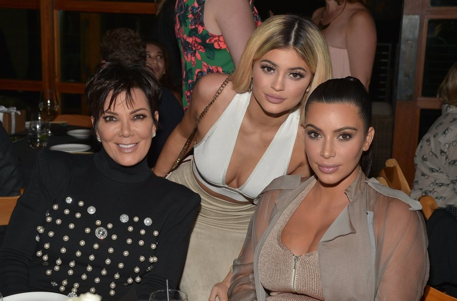 Kris Jenner, Kylie Jenner ir Kim Kardashian