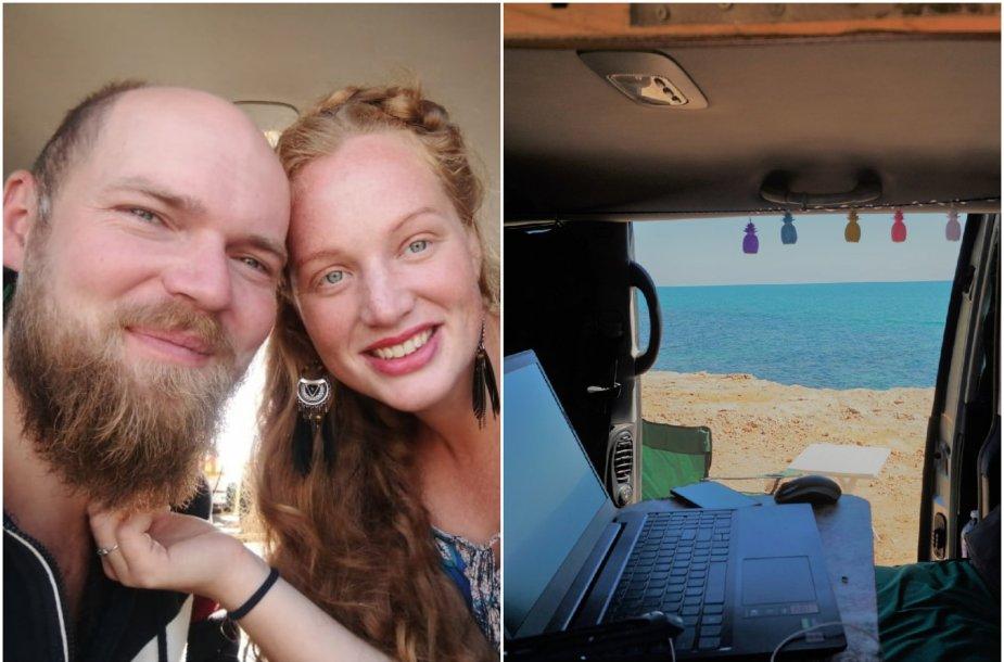 Virginija ir Audrius jau nuo vasaros keliauja ir gyvena automobilyje: iš išorės nė nepasakytum, kiek visko jame įsirengę