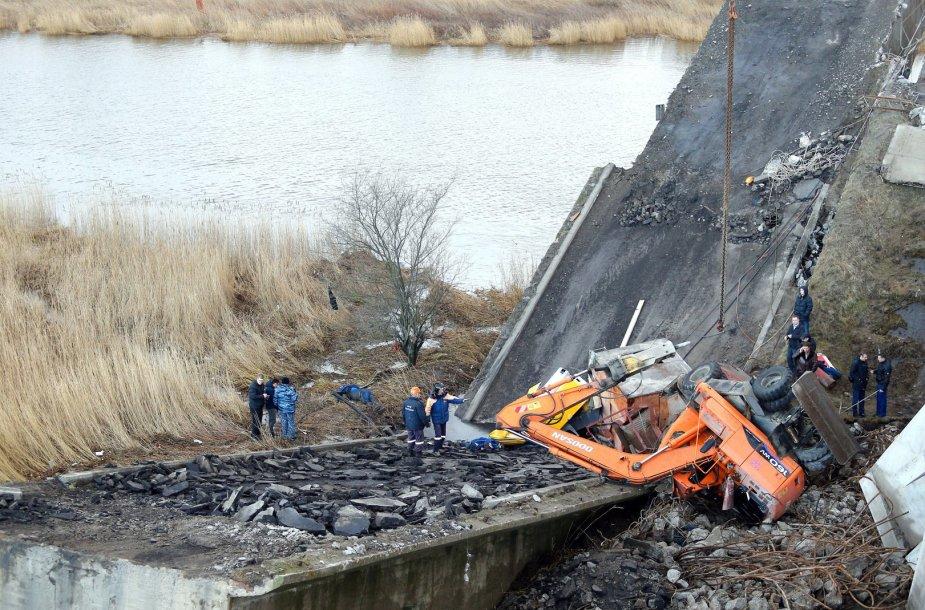 Sugriuvęs tiltas Kaliningrade
