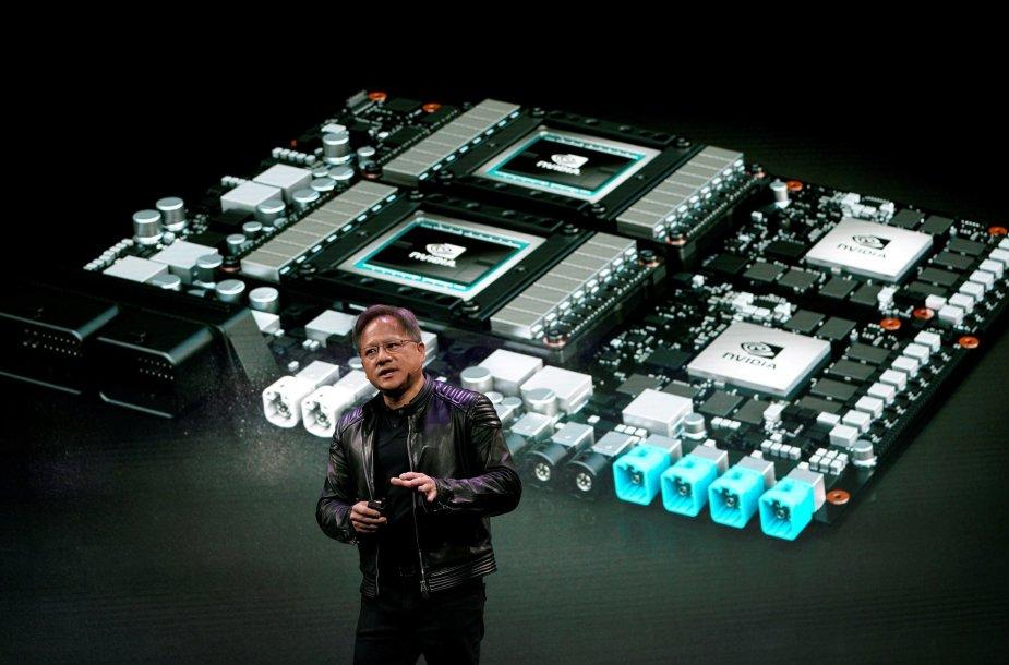 """""""nVidia"""" vadovas Jensenas Huangas"""
