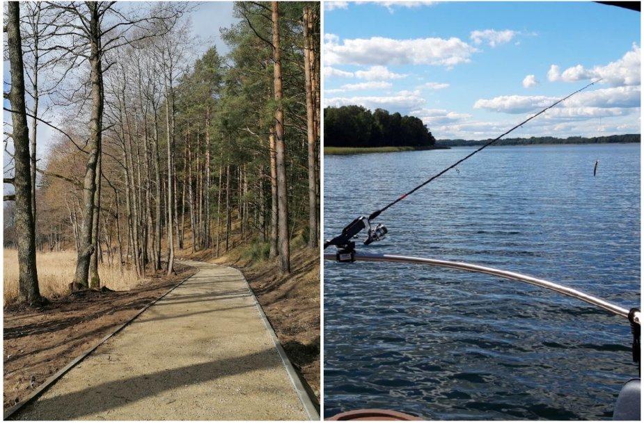 Ignalinos naujovės – takas palei ežerą ir žvejyba su gidu