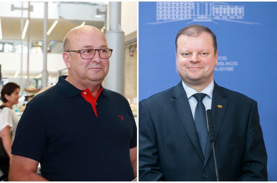 Visvaldas Matijošaitis ir Saulius Skvernelis