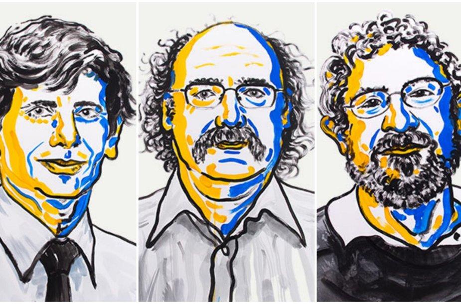 Davidas J. Thoulessas, F. Duncanas M. Haldane'as ir J. Michaelas Kosterlitzas
