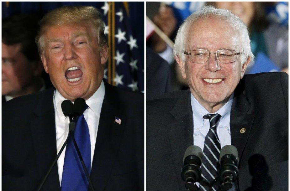 Donaldas Trumpas ir Bernie Sandersas
