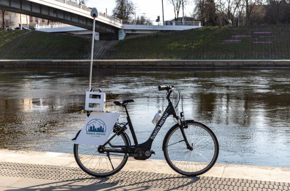 """""""Švarūs miestai"""" elektrinis dviratis"""