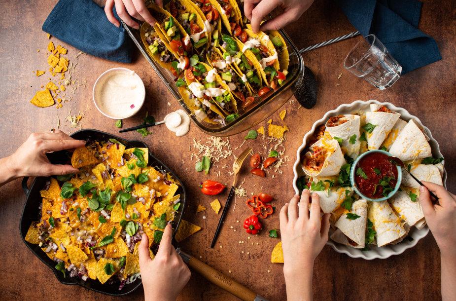 Meksikietiškų patiekalų fiesta