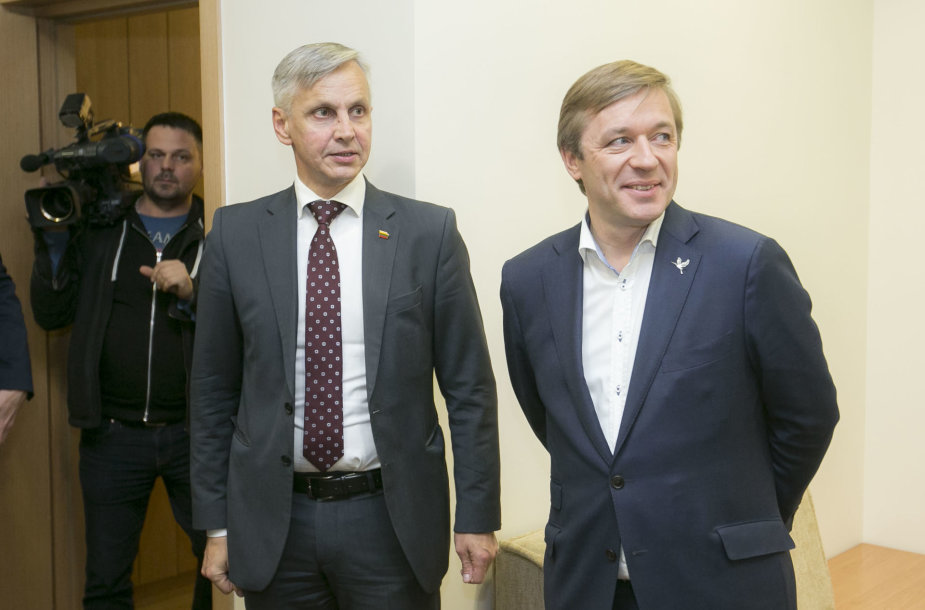 Povilas Urbšys ir Ramūnas Karbauskis