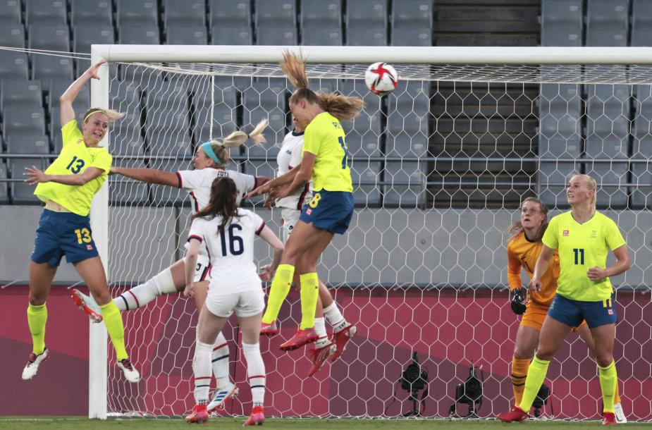 Švedijos ir JAV futbolininkių rungtynės