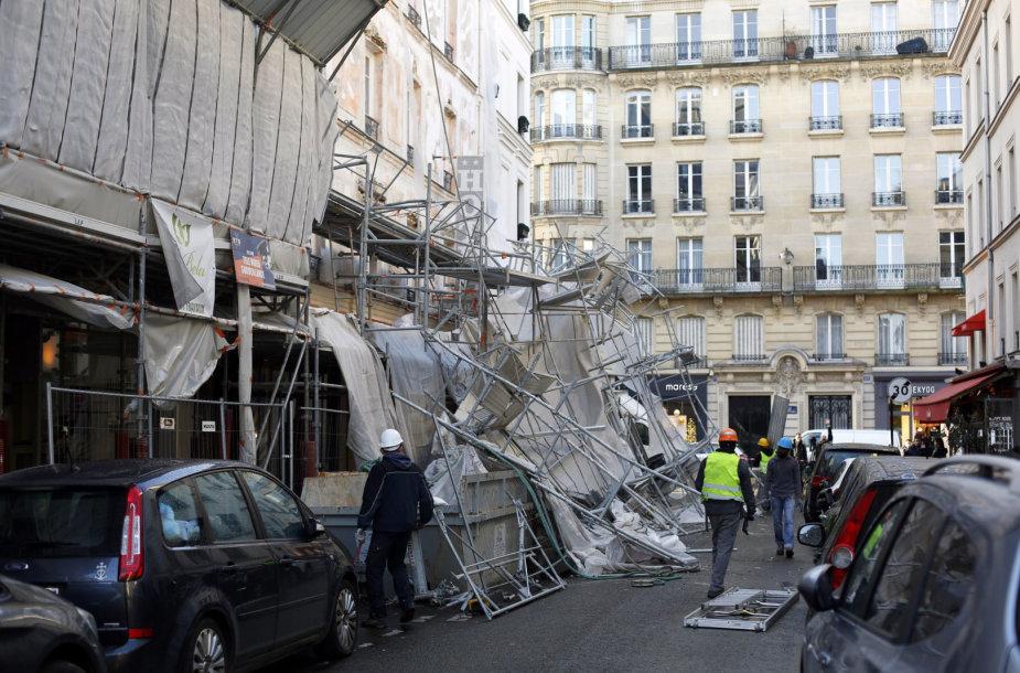 Audros padariniai Paryžiuje