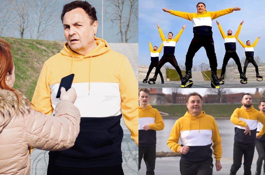 """Petras Gražulis Klaipėdoje šoko pagal dainą """"Kas nešokinės"""""""