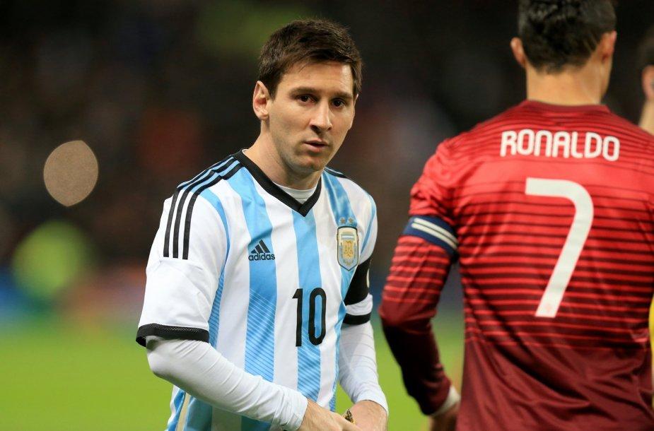 Lionelis Messi ir Cristinano Ronaldo