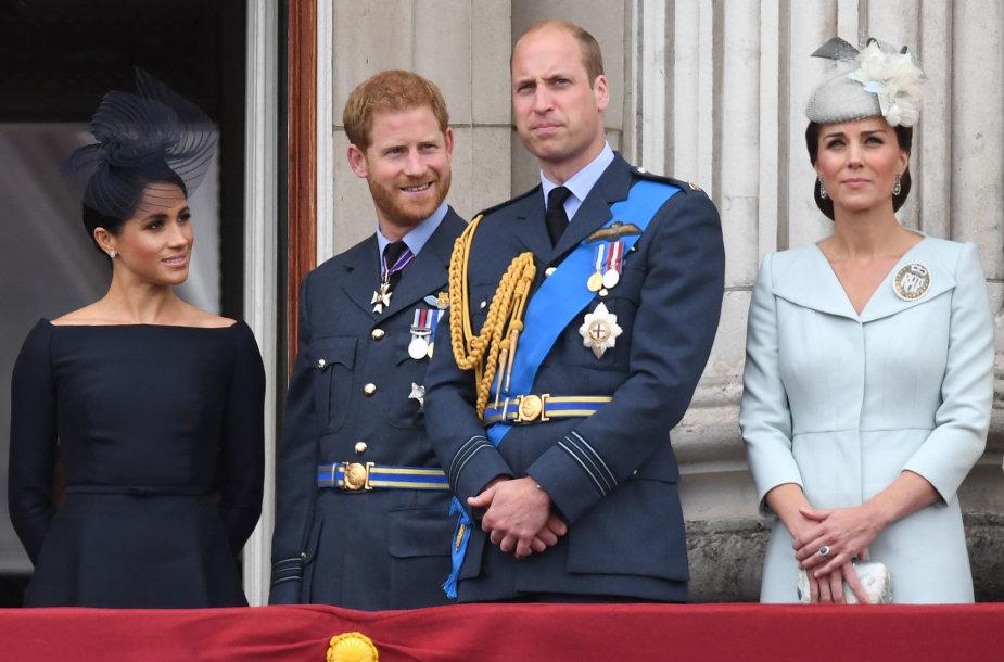 Meghan Markle, princas Harry, princas Williamas ir Kate Middleton