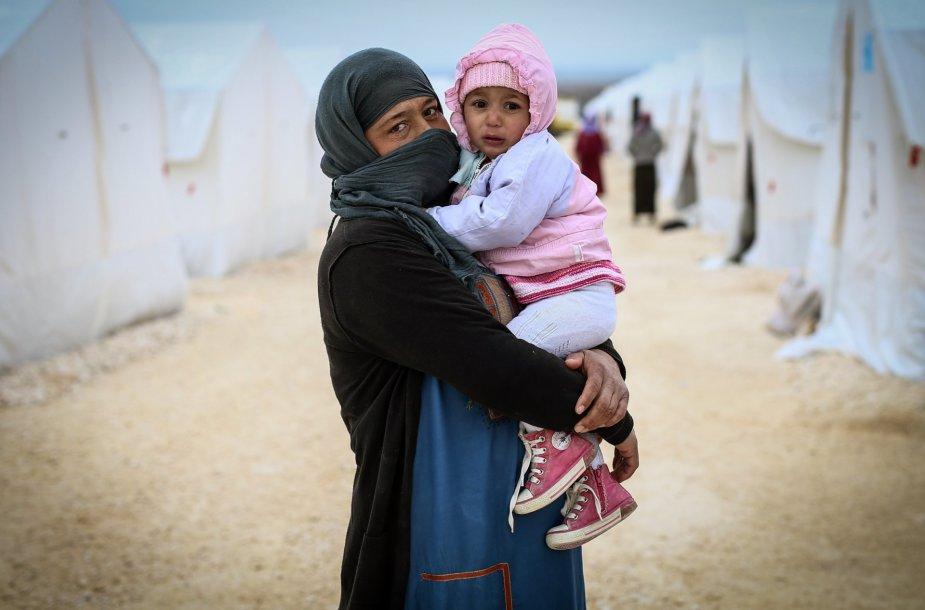 Vaikai Suručo pabėgėlių stovykloje Turkijoje