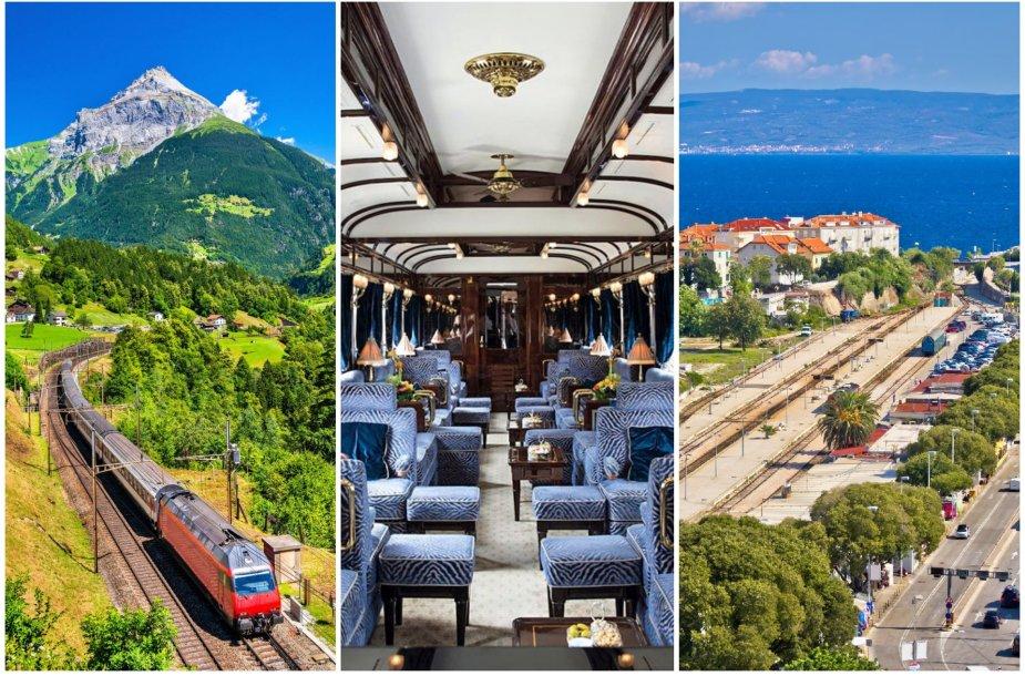 """Nauji traukinių maršrutai Europoje: Šveicarijoje, žymiojo """"Orient Express"""" ir Kroatijoje"""