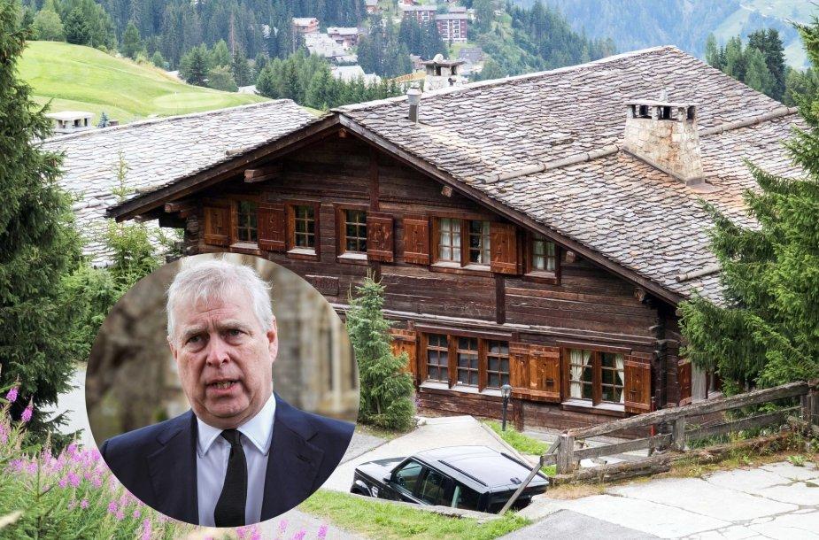 Princui Andrew tebepriklausantis namas Šveicarijos slidinėjimo kurorte