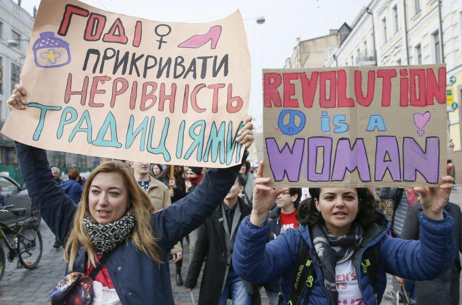 Eitynės Kijeve Tarptautinės moters dienos proga