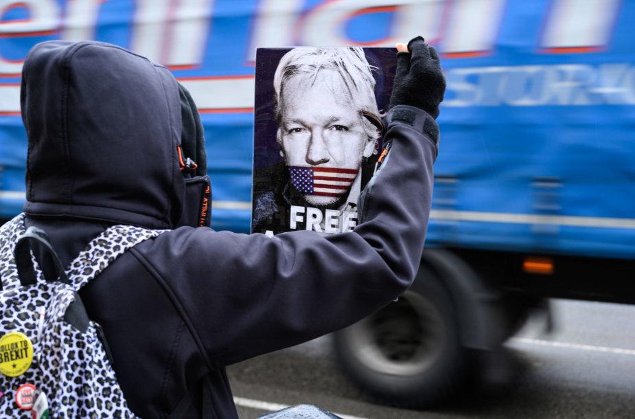 Juliano Assange'o rėmėjas