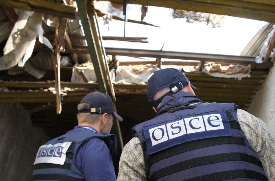 ESBO stebėtojai Rytų Ukrainoje