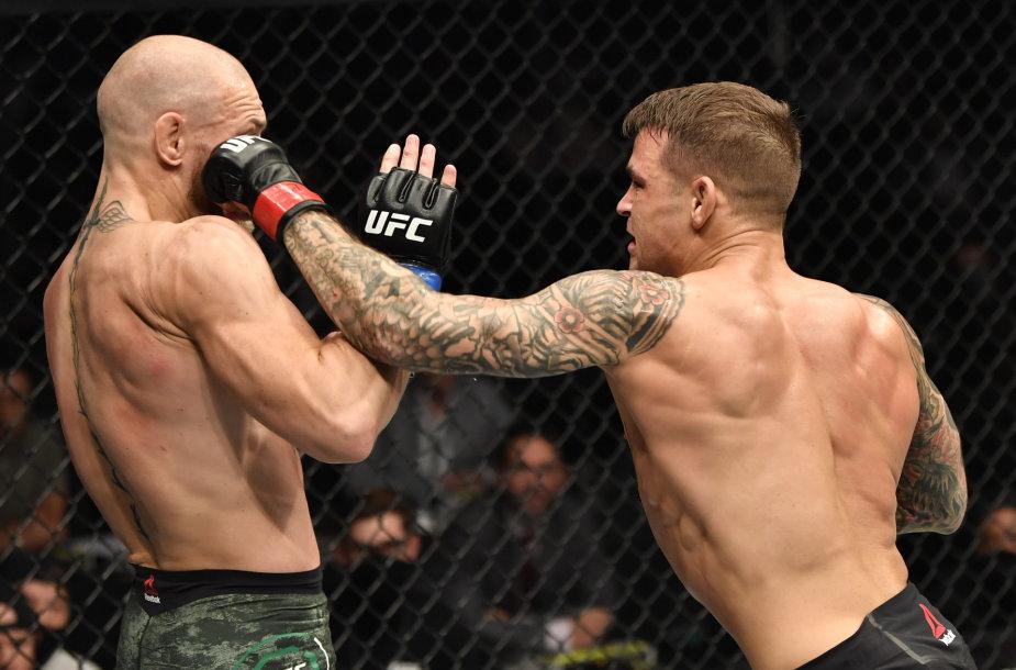 Conoras McGregoras ir Dustinas Poirier: dvikovoje Abu Dabyje MMA žvaigždė C.McGregoras patyrė pralaimėjimą.