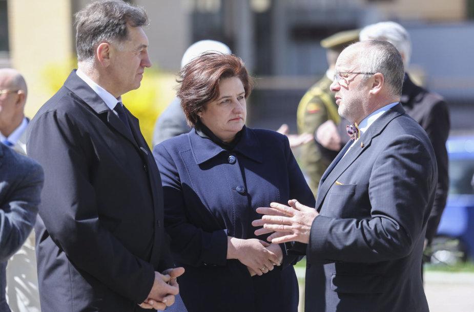 Algirdas Butkevičius, Loreta Graužinienė ir Juozas Olekas