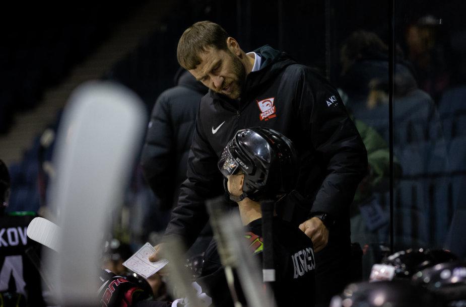"""Vilniaus """"Hockey Punks"""" treneris Mindaugas Kieras"""