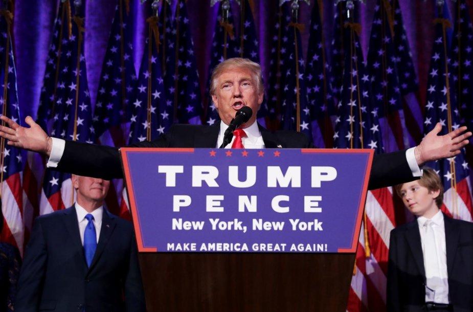 Donaldo Trumpo kalba laimėjus prezidento rinkimus