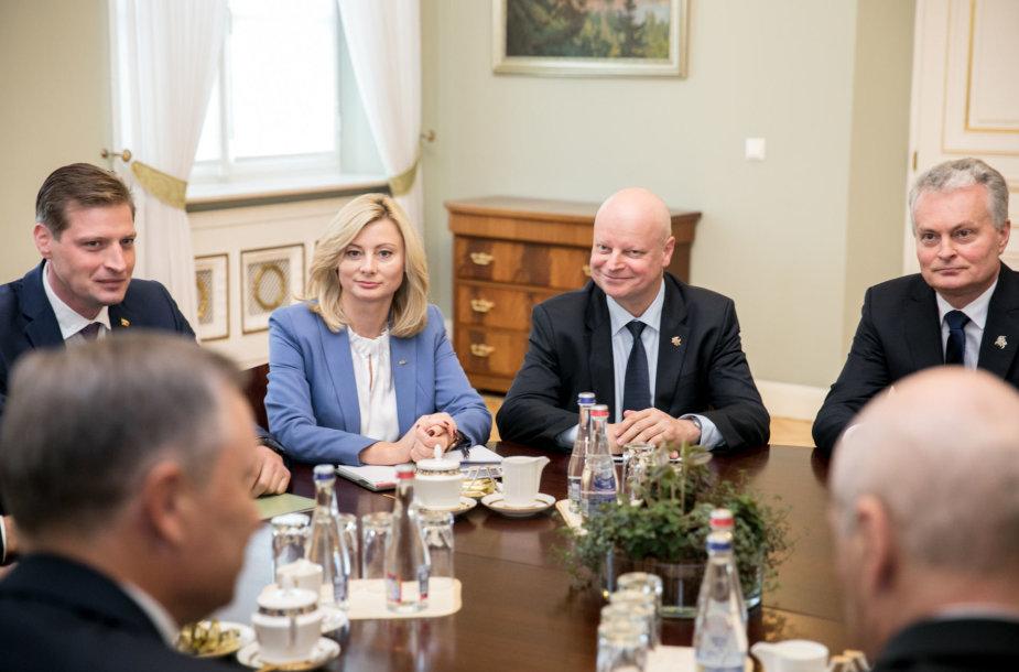 Kęstutis Mažeika, Rita Tamašunienė, Saulius Skvernelis, Gitanas Nausėda