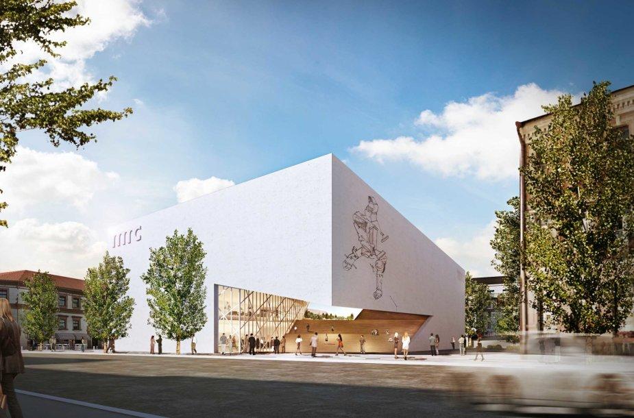 Architektas Danielius Libeskindas Vilniuje pristatė Modernaus meno centro muziejaus pastato projektą