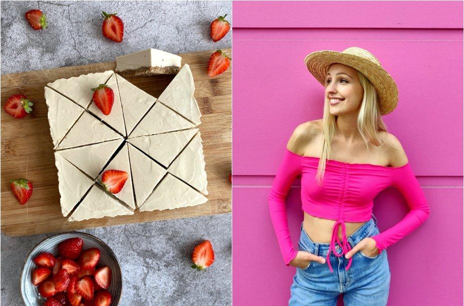 Tinklaraštininkė Evelina ir jos gamintas veganiškas kreminis riešutų desertas