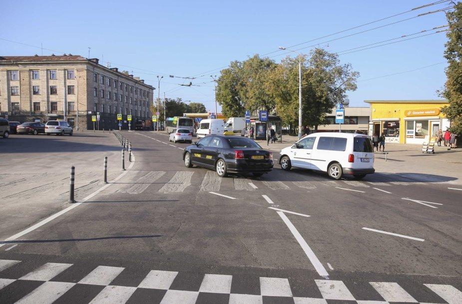 Atnaujinta Vilniaus Stoties g. žiedinė sankryža