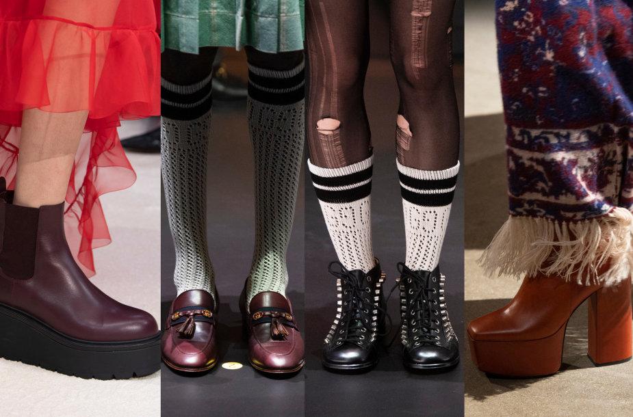 """""""Valentino"""", """"Gucci"""" ir """"Paco Rabanne"""" rudens kolekcijų avalynė"""