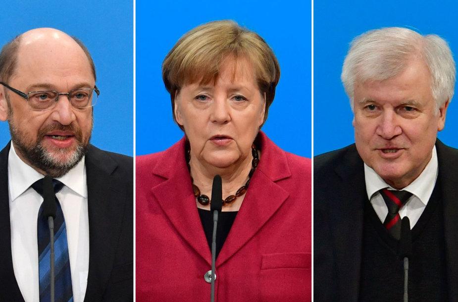 Martinas Schulzas, Angela Merkel ir Horstas Seehoferis