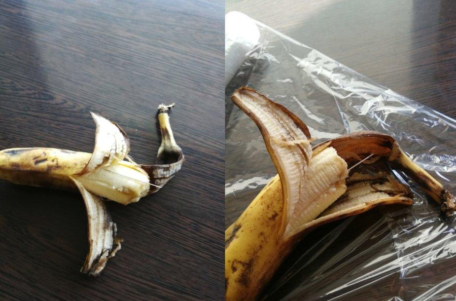 Parduotuvėje Raudondvaryje pirktame banane aptikta adata