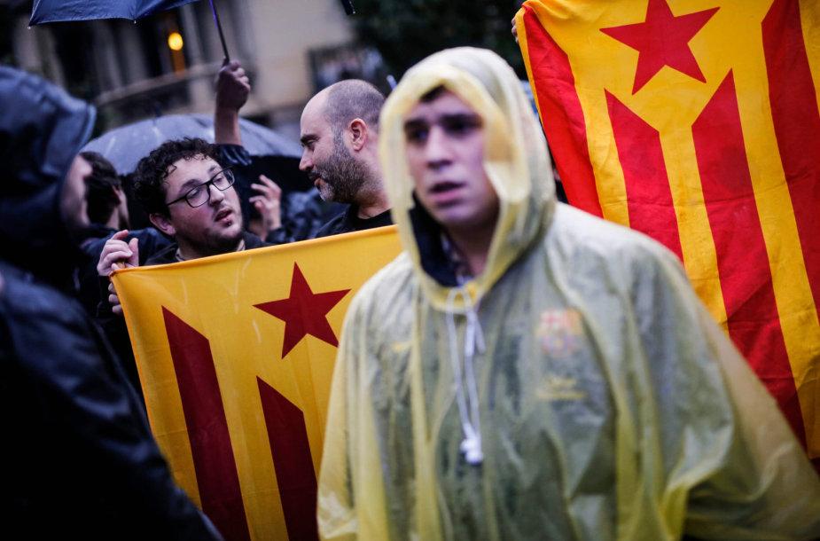 Protestuotojai Katalonijoje
