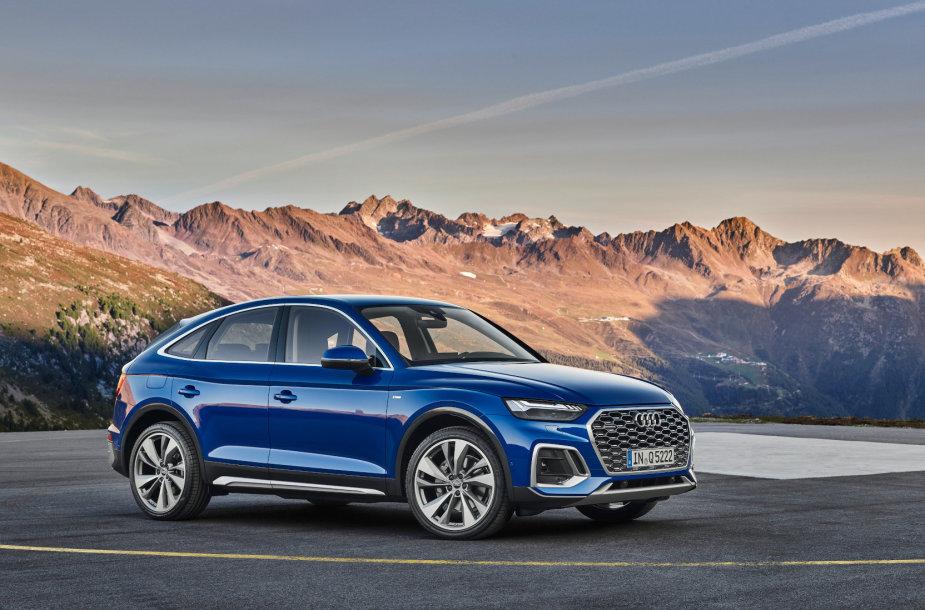 """""""Audi Q5 Sportback"""": dinamiškų linijų kupė su charakteriu"""