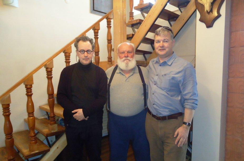 Iš kairės. A. Lukoszevieze'ius, R.Gladkauskas, P.Lucasas.