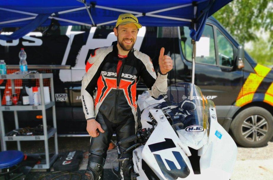 Šarūnas Pladas, Lietuvos motociklų plento žiedo čempionato pirmasis etapas Kačerginėje