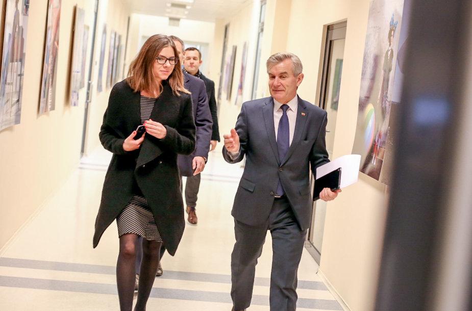 Seimo pirmininkas Viktoras Pranckietis ir Karolina Frolovienė