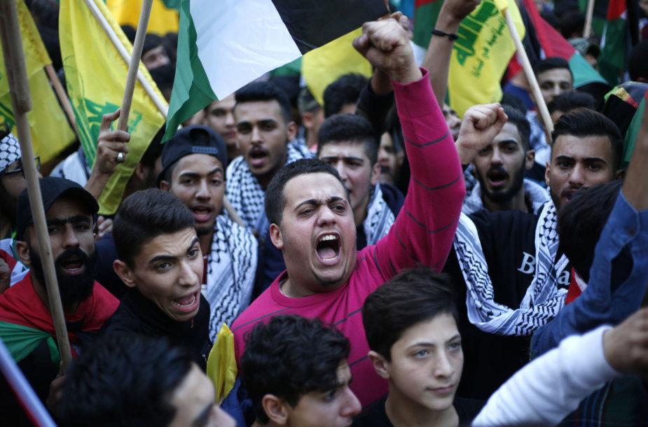 """""""Hezbollah"""" rėmėjai Libane"""