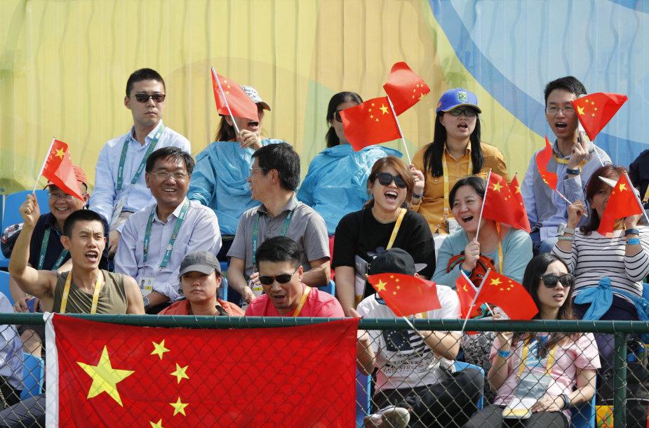 Kinijos sirgaliai olimpiniame teniso turnyre
