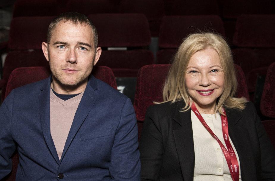 Režisierius Marcin Bortkiewicz ir aktorė Małgorzata Stein.