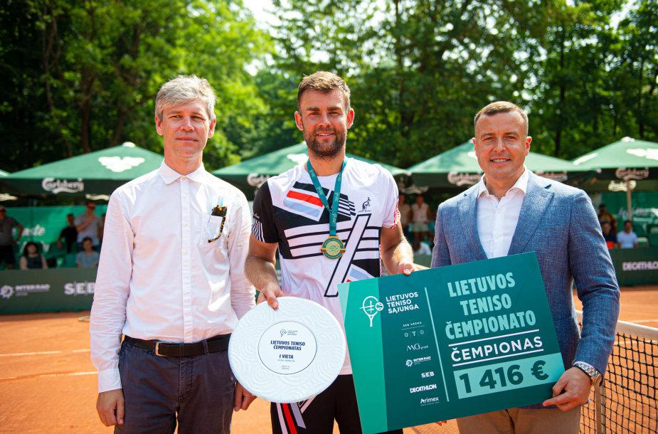 Laurynas Grigelis – Lietuvos teniso pirmenybių čempionas